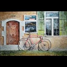 """Bicycle"" a watercolor painting by Rick Burger of Fort Myers"