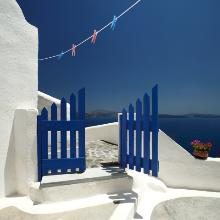 Blue Gate by Photographer Jennifer Dana Deane of Naples