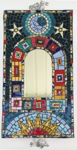 Kel Campbell Mosaic Frame with Mirror Blue SMALL