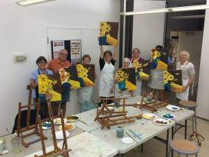 Alla Prima-Alla Fun one evening painting, wine, food & fun class at the Center for Visual Arts Bonita Springs