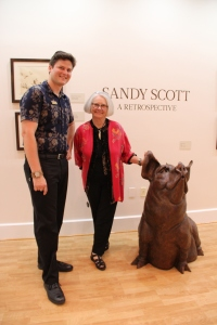 CFABS Shows & Exhibitions Director Erin Gerhardt and Artist Sandy Scott