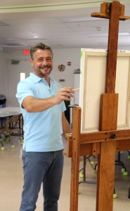 Laurent Dareau teaches How to See & Paint evenings at the Center for Visual Arts Bonita Springs