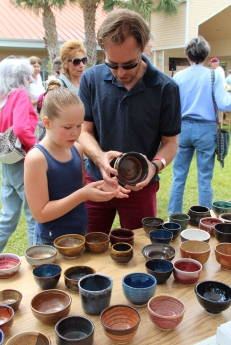 Guests at Empty Bowls