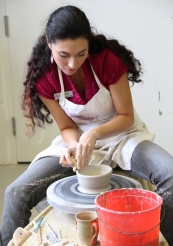 Angela Empty Bowls throwing