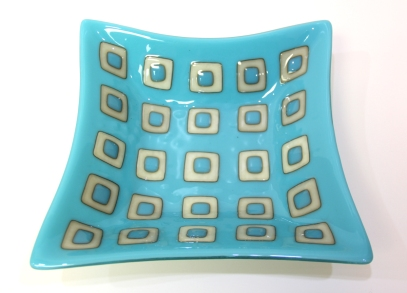 Glass Plate Modern Squares Sheri Rouleaux SMALL